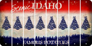 Idaho CHRISTMAS TREE Cut License Plate Strips (Set of 8) LPS-ID1-077