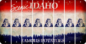 Idaho SANTA Cut License Plate Strips (Set of 8) LPS-ID1-078