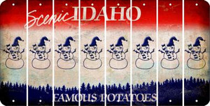 Idaho SNOWMAN Cut License Plate Strips (Set of 8) LPS-ID1-079