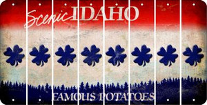 Idaho SHAMROCK Cut License Plate Strips (Set of 8) LPS-ID1-082