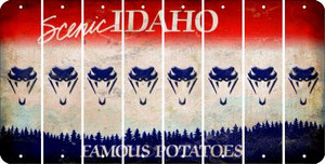 Idaho SNAKE Cut License Plate Strips (Set of 8) LPS-ID1-088