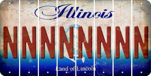 Illinois N Cut License Plate Strips (Set of 8) LPS-IL1-014