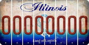 Illinois O Cut License Plate Strips (Set of 8) LPS-IL1-015