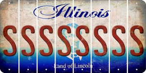 Illinois S Cut License Plate Strips (Set of 8) LPS-IL1-019