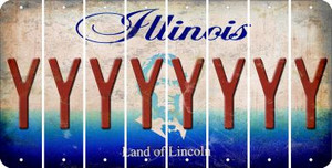 Illinois Y Cut License Plate Strips (Set of 8) LPS-IL1-025