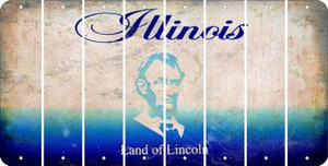 Illinois BLANK Cut License Plate Strips (Set of 8) LPS-IL1-037