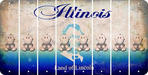 Illinois BABY BOY Cut License Plate Strips (Set of 8) LPS-IL1-066