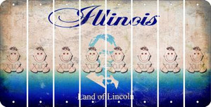 Illinois BABY GIRL Cut License Plate Strips (Set of 8) LPS-IL1-067