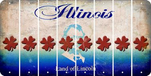 Illinois SHAMROCK Cut License Plate Strips (Set of 8) LPS-IL1-082