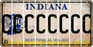 Indiana C Cut License Plate Strips (Set of 8) LPS-IN1-003