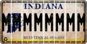 Indiana M Cut License Plate Strips (Set of 8) LPS-IN1-013