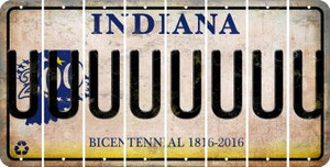 Indiana U Cut License Plate Strips (Set of 8) LPS-IN1-021