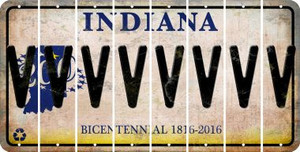 Indiana V Cut License Plate Strips (Set of 8) LPS-IN1-022