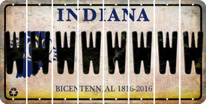 Indiana W Cut License Plate Strips (Set of 8) LPS-IN1-023