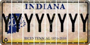 Indiana Y Cut License Plate Strips (Set of 8) LPS-IN1-025
