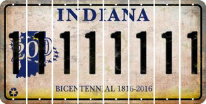 Indiana 1 Cut License Plate Strips (Set of 8) LPS-IN1-028