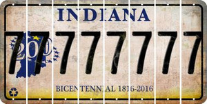 Indiana 7 Cut License Plate Strips (Set of 8) LPS-IN1-034