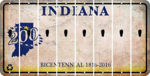 Indiana APOSTROPHE Cut License Plate Strips (Set of 8) LPS-IN1-038
