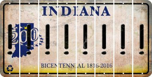 Indiana EXCLAMATION POINT Cut License Plate Strips (Set of 8) LPS-IN1-041