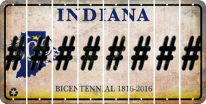 Indiana HASHTAG Cut License Plate Strips (Set of 8) LPS-IN1-043