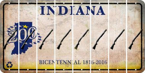 Indiana SHOTGUN Cut License Plate Strips (Set of 8) LPS-IN1-054