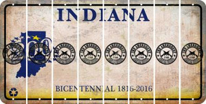 Indiana 2ND AMENDMENT Cut License Plate Strips (Set of 8) LPS-IN1-056