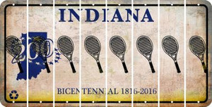 Indiana TENNIS Cut License Plate Strips (Set of 8) LPS-IN1-064