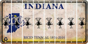 Indiana TEEN GIRL Cut License Plate Strips (Set of 8) LPS-IN1-069