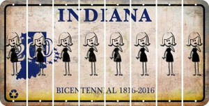 Indiana MOM Cut License Plate Strips (Set of 8) LPS-IN1-070
