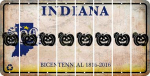 Indiana PUMPKIN Cut License Plate Strips (Set of 8) LPS-IN1-075