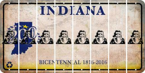 Indiana SANTA Cut License Plate Strips (Set of 8) LPS-IN1-078
