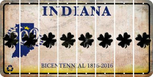 Indiana SHAMROCK Cut License Plate Strips (Set of 8) LPS-IN1-082