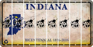Indiana LADYBUG Cut License Plate Strips (Set of 8) LPS-IN1-087