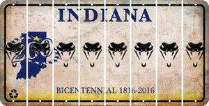 Indiana SNAKE Cut License Plate Strips (Set of 8) LPS-IN1-088