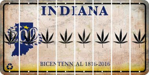 Indiana POT LEAF Cut License Plate Strips (Set of 8) LPS-IN1-090