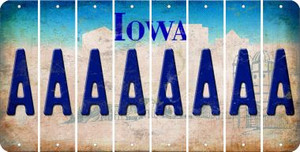 Iowa A Cut License Plate Strips (Set of 8) LPS-IA1-001