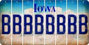Iowa B Cut License Plate Strips (Set of 8) LPS-IA1-002