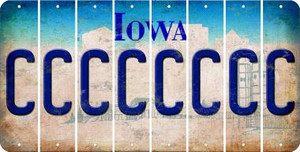 Iowa C Cut License Plate Strips (Set of 8) LPS-IA1-003