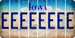 Iowa E Cut License Plate Strips (Set of 8) LPS-IA1-005