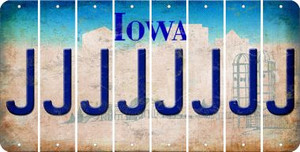 Iowa J Cut License Plate Strips (Set of 8) LPS-IA1-010