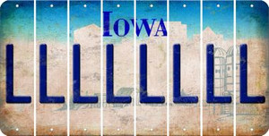 Iowa L Cut License Plate Strips (Set of 8) LPS-IA1-012