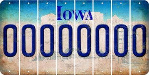Iowa O Cut License Plate Strips (Set of 8) LPS-IA1-015