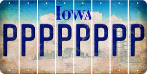 Iowa P Cut License Plate Strips (Set of 8) LPS-IA1-016