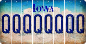 Iowa Q Cut License Plate Strips (Set of 8) LPS-IA1-017