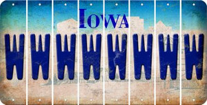 Iowa W Cut License Plate Strips (Set of 8) LPS-IA1-023
