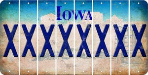 Iowa X Cut License Plate Strips (Set of 8) LPS-IA1-024