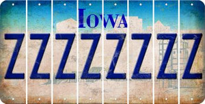 Iowa Z Cut License Plate Strips (Set of 8) LPS-IA1-026