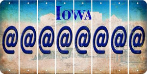 Iowa ASPERAND Cut License Plate Strips (Set of 8) LPS-IA1-039