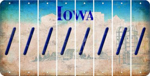 Iowa FORWARD SLASH Cut License Plate Strips (Set of 8) LPS-IA1-042