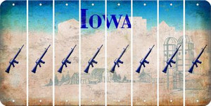 Iowa M16 RIFLE Cut License Plate Strips (Set of 8) LPS-IA1-052